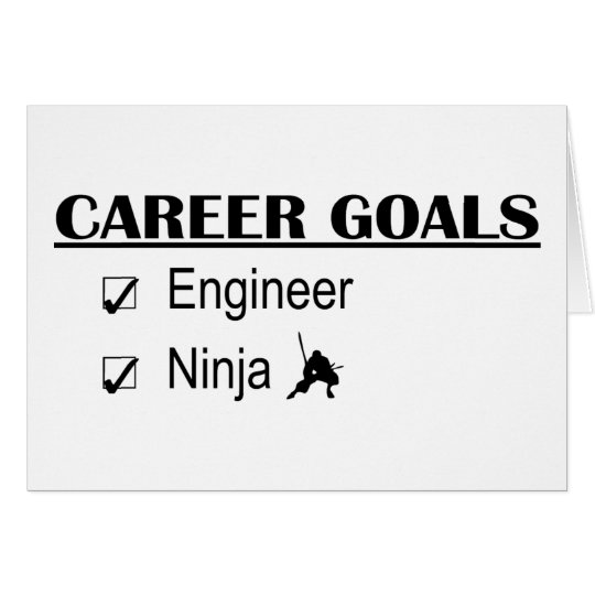 Ninja Career Goals - Engineer Card