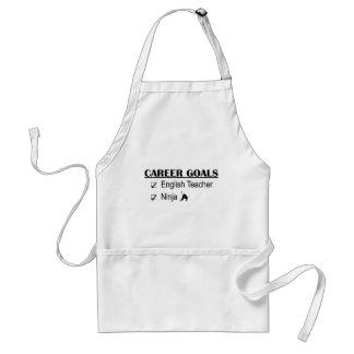 Ninja Career Goals - English Teacher Adult Apron