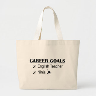 Ninja Career Goals - English Teacher Large Tote Bag