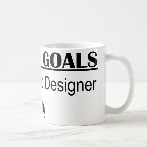 Ninja Career Goals - Graphic Designer Coffee Mugs