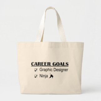 Ninja Career Goals - Graphic Designer Large Tote Bag