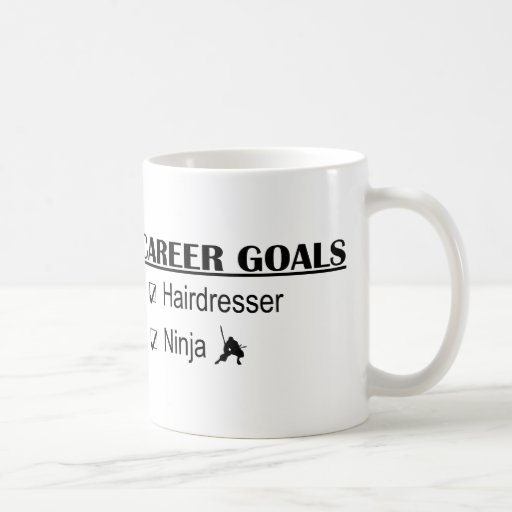 Ninja Career Goals - Hairdresser Classic White Coffee Mug