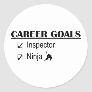 Ninja Career Goals - Inspector Classic Round Sticker