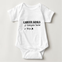 Ninja Career Goals - Kindergarten Teacher Baby Bodysuit