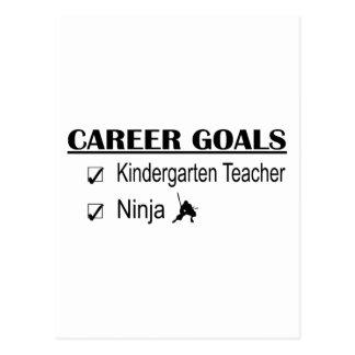 Ninja Career Goals - Kindergarten Teacher Postcard