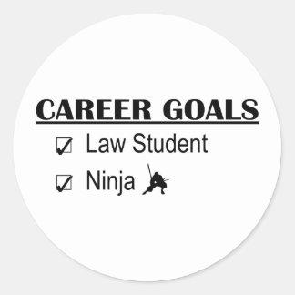 Ninja Career Goals - Law Student Classic Round Sticker