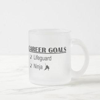 Ninja Career Goals - Lifeguard 10 Oz Frosted Glass Coffee Mug