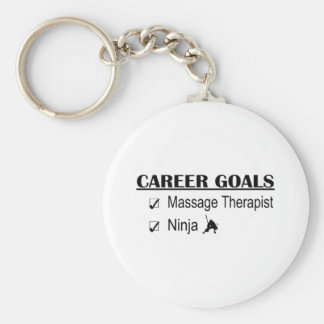 Ninja Career Goals - Massage Therapist Keychain