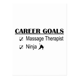 Ninja Career Goals - Massage Therapist Postcard