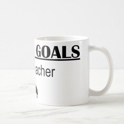 Ninja Career Goals - Math Teacher Classic White Coffee Mug
