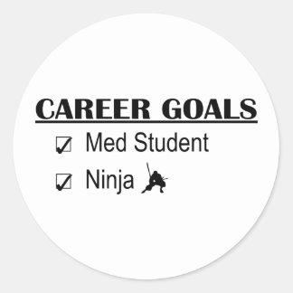 Ninja Career Goals - Med Student Classic Round Sticker