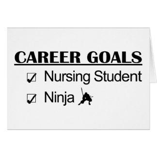 Ninja Career Goals - Nursing Student Card