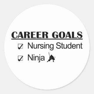 Ninja Career Goals - Nursing Student Classic Round Sticker