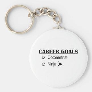 Ninja Career Goals - Optometrist Basic Round Button Keychain