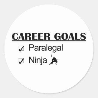 Ninja Career Goals - Paralegal Classic Round Sticker