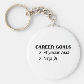 Ninja Career Goals - Physician Asst Basic Round Button Keychain