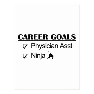 Ninja Career Goals - Physician Asst Postcard