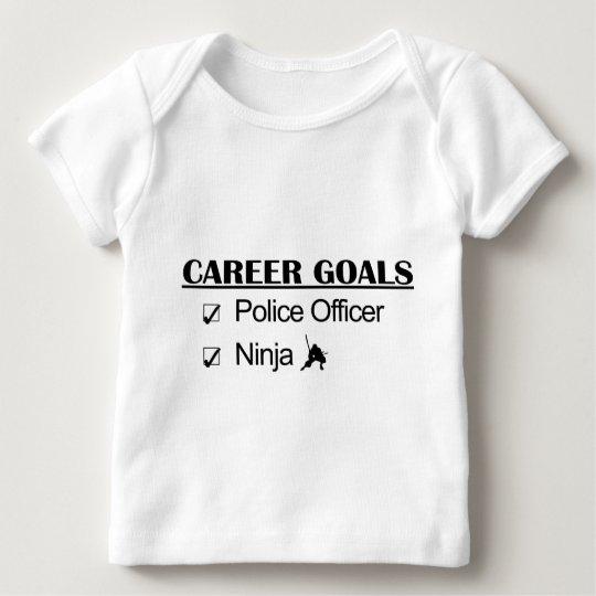 Ninja Career Goals - Police Officer Baby T-Shirt