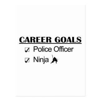 Ninja Career Goals - Police Officer Postcard