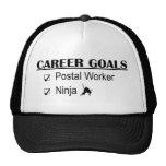 Ninja Career Goals - Postal Worker Trucker Hat