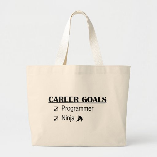 Ninja Career Goals - Programmer Canvas Bags