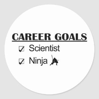 Ninja Career Goals - Scientist Classic Round Sticker