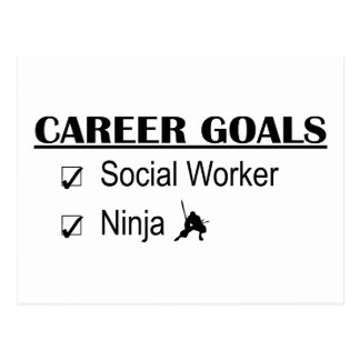 Ninja Career Goals - Social Worker Postcard