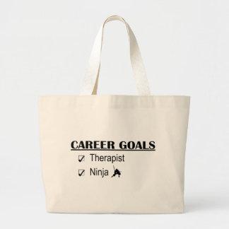 Ninja Career Goals - Therapist Large Tote Bag