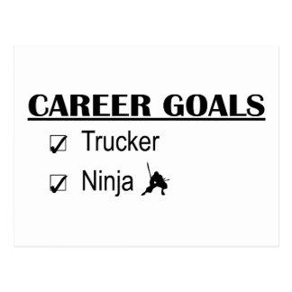 Ninja Career Goals - Trucker Postcard