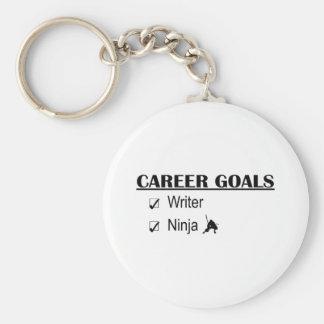 Ninja Career Goals - Writer Basic Round Button Keychain