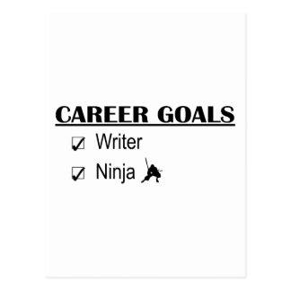 Ninja Career Goals - Writer Postcard
