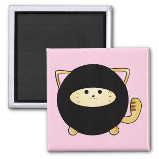 Ninja Cat 2 Inch Square Magnet