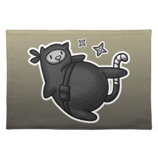 Ninja Cat Cloth Placemat
