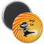 Ninja Cat Firekick Magnet
