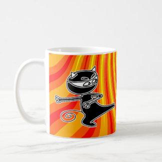 Ninja Cat Firekick Mug