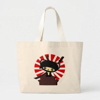 ninja cat kawaii canvas bag