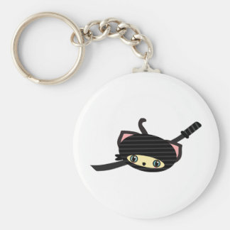 ninja cat kawaii keychain