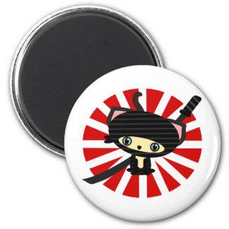 ninja cat kawaii magnet