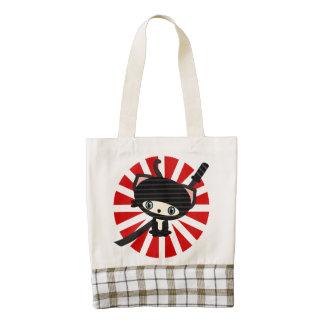 ninja cat kawaii zazzle HEART tote bag
