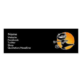 Ninja Cat Social Media Card Mini Business Card