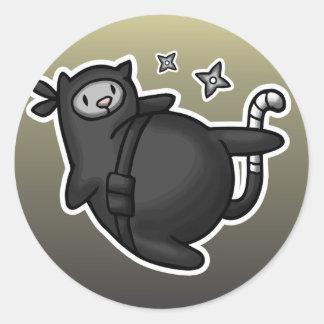 Ninja Cat Classic Round Sticker