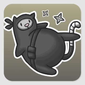 Ninja Cat Square Sticker