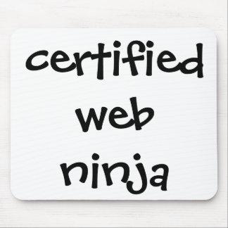 ninja certificado de la tela alfombrilla de ratones