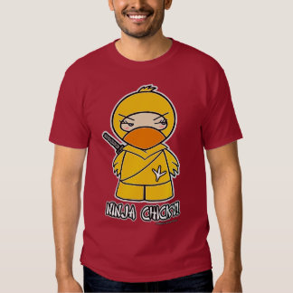 ¡Ninja Chicky! Camiseta Poleras