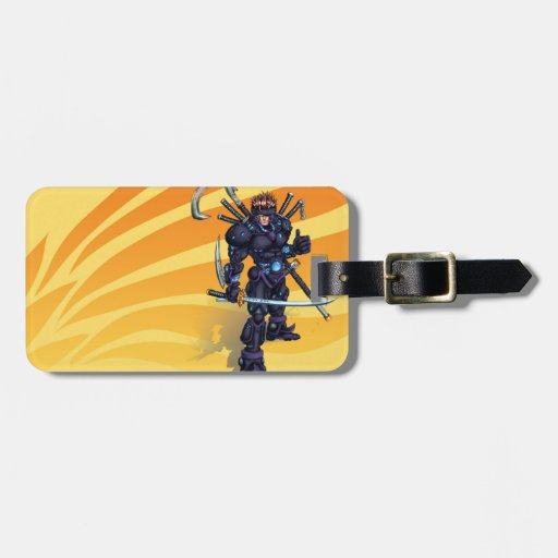 Ninja cibernético etiqueta para equipaje