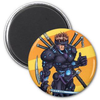 Ninja cibernético imán de frigorífico