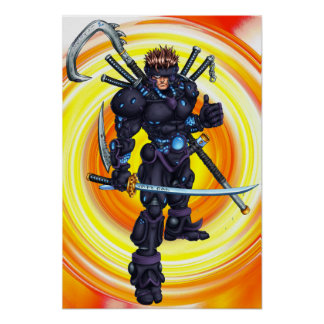 Ninja cibernético impresiones