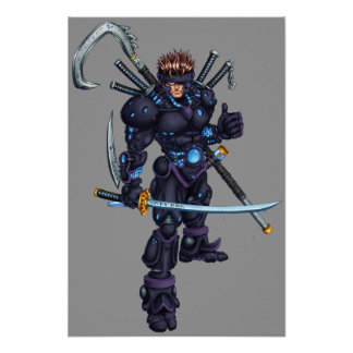 Ninja cibernético poster