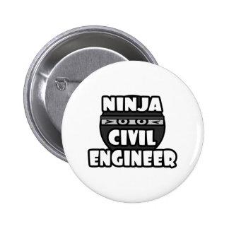 Ninja Civil Engineer Pinback Button