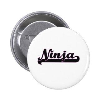 Ninja Classic Job Design 2 Inch Round Button
